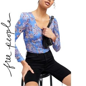 NWT Free People Printed Santiago Cropped Blouse XS